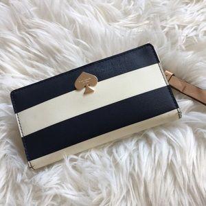 Kate spade cherry lane striped wallet